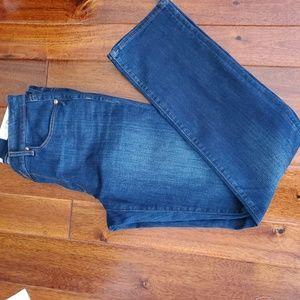 Ann Taylor Loft Denim Curvy Straight Jeans 29 8T